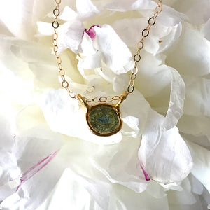 Raw Blue Diamond Gold Necklace
