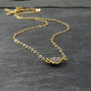 White Diamond Gold Necklace