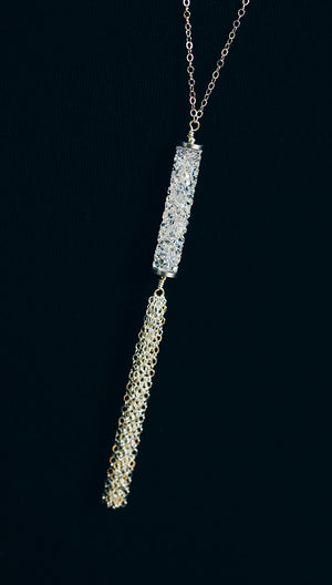 Long Swarovski Tassel Necklace