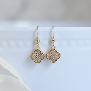 Gold Clover Earrings