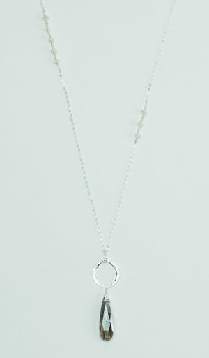Moonstone Silver Long Necklace