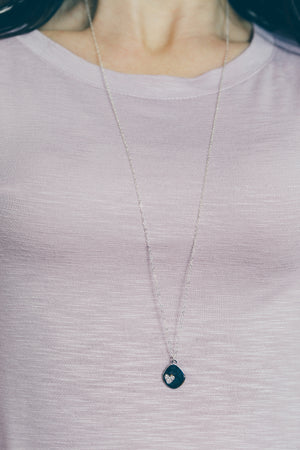 Long Layering Silver Necklace