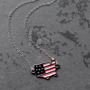 Patriotic Silver Necklace