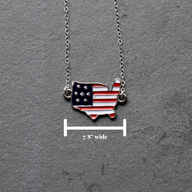 American Flag Pendant Necklace 1