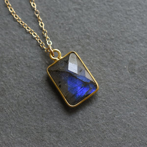 Labradorite Gold Vermeil Necklace