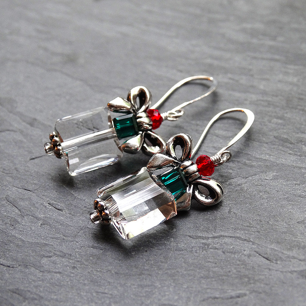 Swarovski Christmas Present Earrings