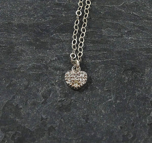 Silver Tiny Heart Necklace