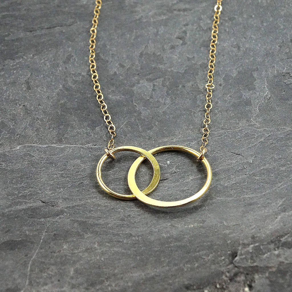 Two Ring Circle Necklace