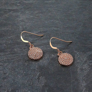 Pave Rose Gold Earrings