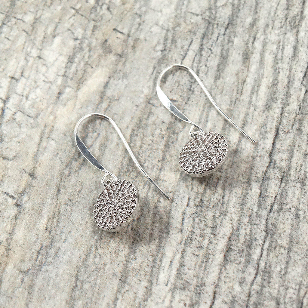 Silver Pave Earrings