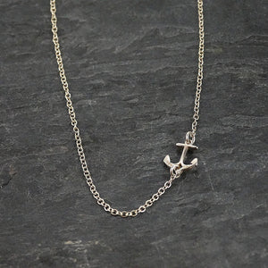 Silver Tiny Anchor Necklace