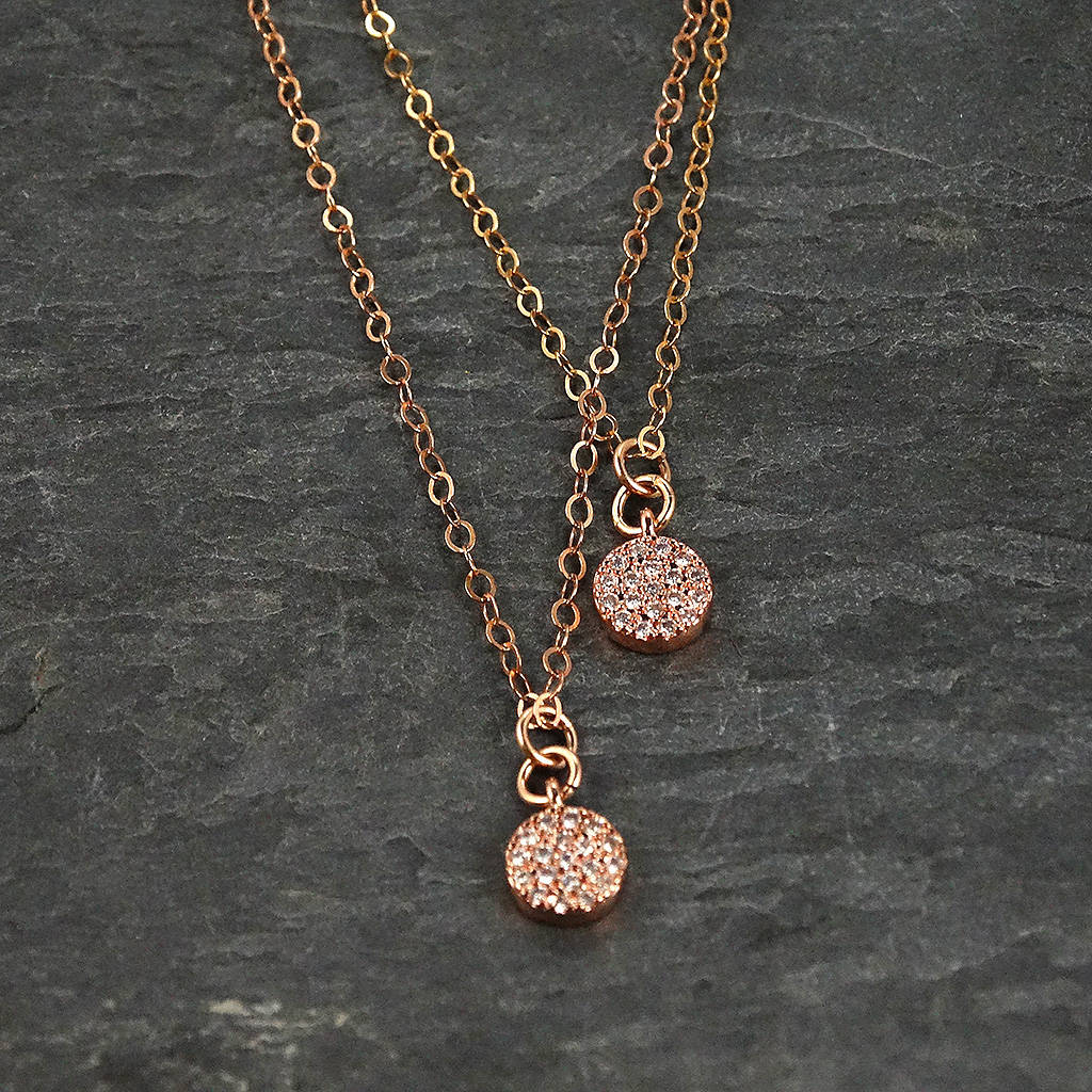 Layered Rose Gold Necklace