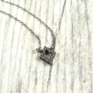 Diamond Shaped Pendant Necklace