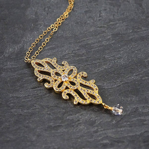 Gold Art Deco Necklace