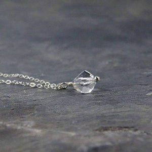 Dainty Silver Crystal Necklace