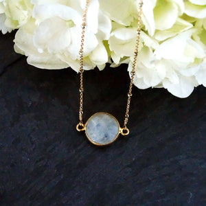 Gold & Silver Moonstone Necklace