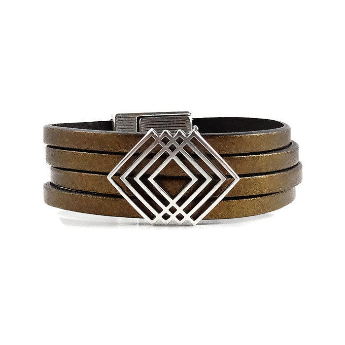 Southwestern Inspired Leather Cuff