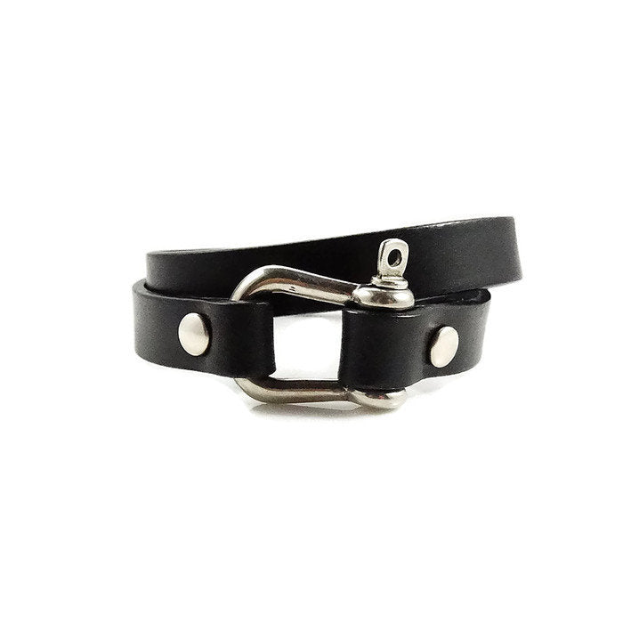 Horseshoe Leather Bracelet