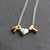 Sterling Silver and Gold Vermeil Alphabet Beads with Sterling Silver Chain