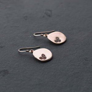 Rose Gold Heart Drop Earrings