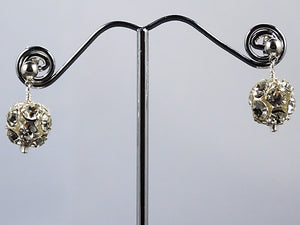 Rhinestone Ball Earrings