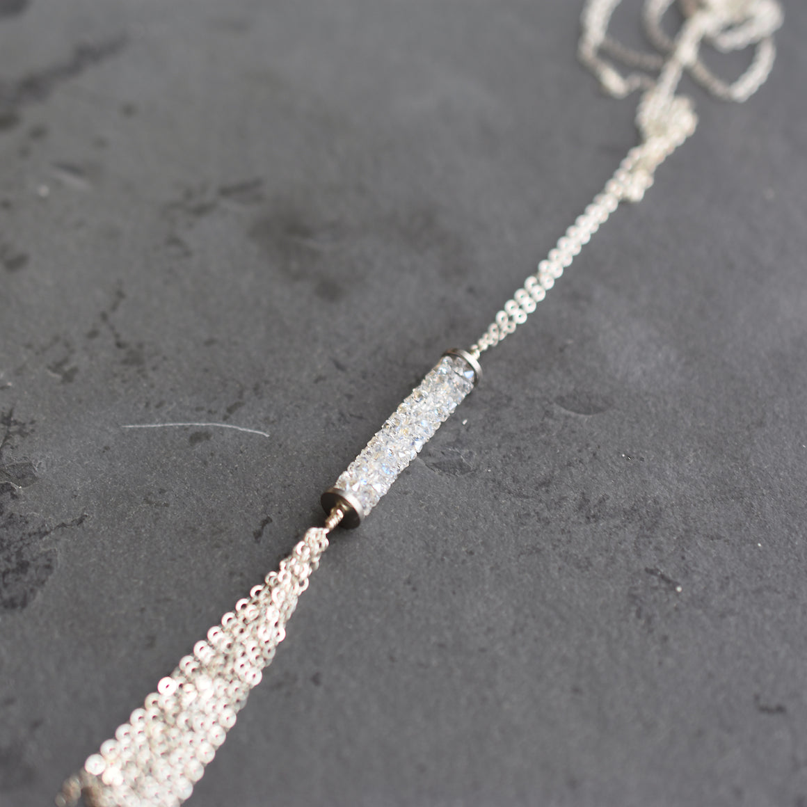Sparkly Tassel Necklace