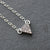 Tiny Silver Triangle Pendant Necklace