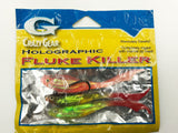 Crazy Gear 1/2 Oz Pre-Rigged Holographic  Fluke Killer Teaser Hook