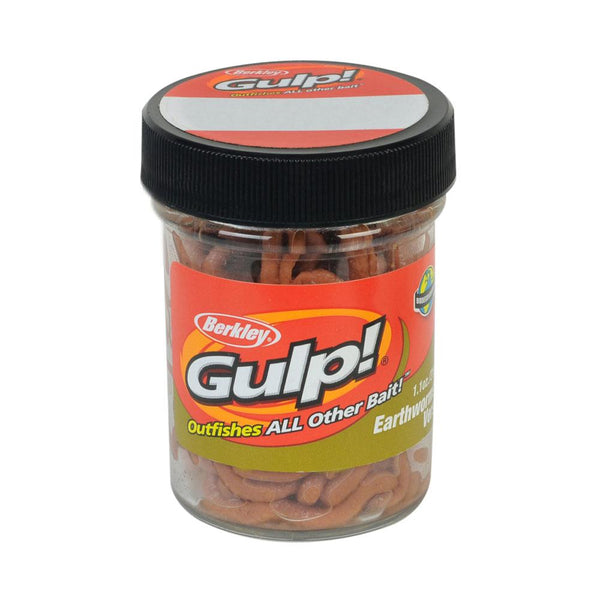 Berkley Gulp Earthworms Freshwater Jar Bait