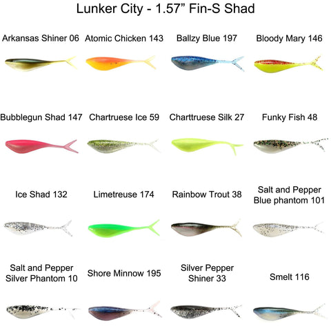 "Lunker City 1.75"" Fin-S Shad"