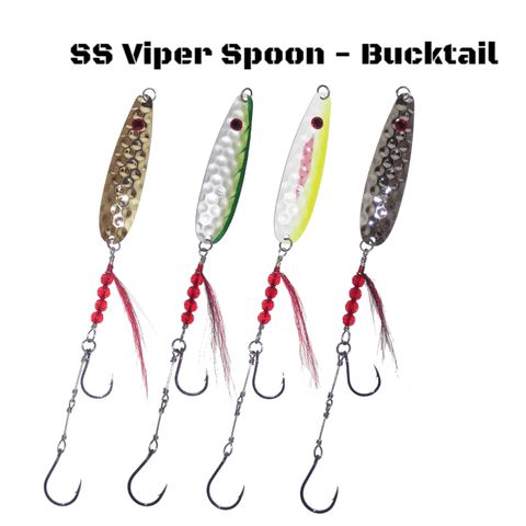 Thundermist Lures SS Viper Spoon - Bucktail