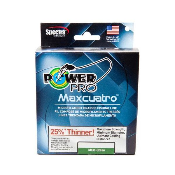 PowerPro Maxcuatro Microfilament Braided Fishing Line - Moss Green