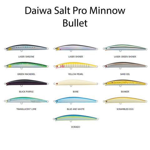 Daiwa SP Salt Pro Minnow Bullet Colors