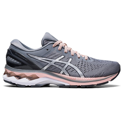 The ASICS Kayano has been our best-selling style at Frontrunners for a long time. The newest version # 27 will not disappoint. It's redesigned mesh upper helps keep feet cool, while the sole is more flexible to help promote a more natural roll through the gait cycle. This process starts in the heel.