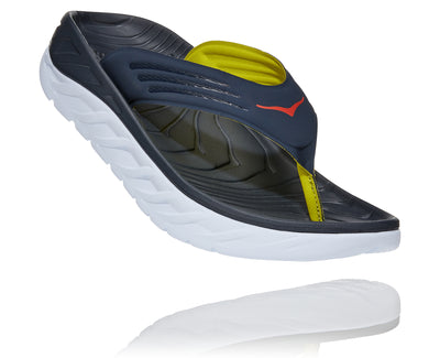 You just gave it all in that race and now your feet need some care, pronto. That's where the Hoka Ora Recovery Flip comes in. This flip flop features an oversized midsole and Meta-Rocker that hugs the foot and provides sleek comfort and support.