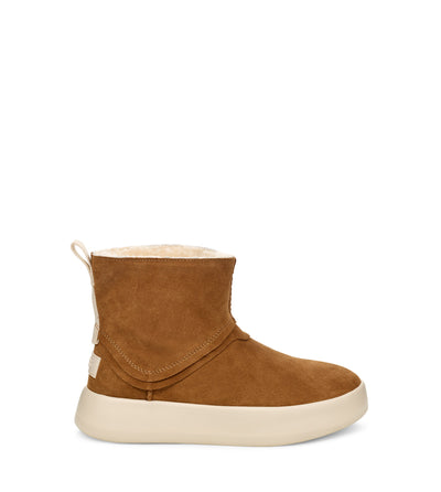 The Classic Boom from Ugg combines sneaker and boot to create a style that's youthful, versatile, and just plain cool. Made from brushed suede with a luxuriously soft interior, it pairs well with high-waisted denim and statement skirts.