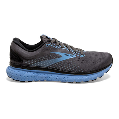 Women's Brooks Glycerin Running shoe available in LA. This is version 18 of the Brooks Glycerin, the image is of the right Brooks running shoe  from the lateral side.