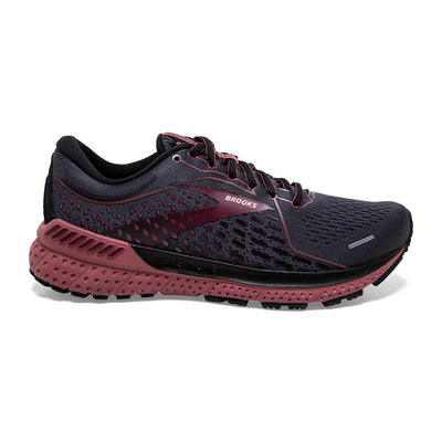 The new Women's Brooks Adrenaline GTS 21 features more DNA Loft Cushioning then ever before. That creates an even smoother heel to toe ride than before. That's a big deal since V20 is a great shoe. Brook's GuideRails support keeps you moving comfortable by guiding the foot and lower body through every step. This is a surefire recipe for comfort that's custom made for your stride.  Specs: