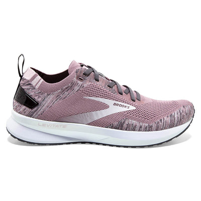 Looking to add extra energy to your stride? The Women's Brooks Levitate 4 is designed with very springy foam to produce a road-running shoe that returns energy with every stride.  This foam is not as soft as the foam in the Brooks Ghost or Glycerin, but does produce a very fun, springy feel.  Anyone who had a previous version of the Levitate will notice the DNA AMP cushioning is now 20% lighter.