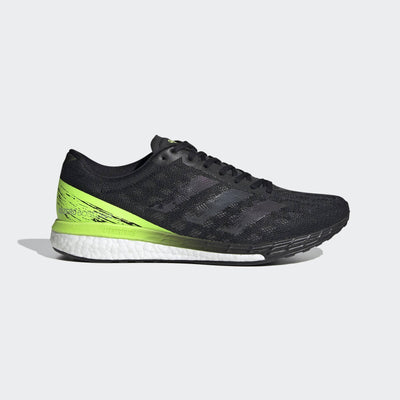 So, these adidas Boston 9 running shoes are made for pushing the pace. The mesh upper fits like a second skin providing plenty of support.  The responsive cushioning in the heel and ultra-lightweight cushioning in the forefoot give you quick transition right into the next step.