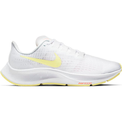 The classic is here in its 37th edition.  The Women's Nike Pegasus will take your run to the next level.  It features unbelievable React cushioning and a new forefoot Air Unit to propel the legs forward. The translucent upper makes the shoe look fast even when its sitting still.  Plus this upper technology helps to promote ventilation.