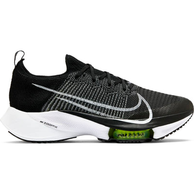 We sure are excited for the Men's Tempo Next % from Nike.  This shoe clearly looks similar to the fastest running shoe ever make, the Nike Alpha Fly. Yet it is much more durable allowing it to be used as a everyday training shoe.  This style is just flat out fun to run in.  It features a lot of Zoom X foam that launches you onto the forefoot.  Then the Air Zoom bag and shape of the forefoot continues that quick movement into the next step.