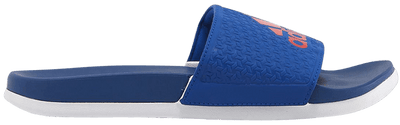 Kids love the Adilette slide from adidas.  These have super soft cushioning for a great under foot feel.  The Royal color also looks great.