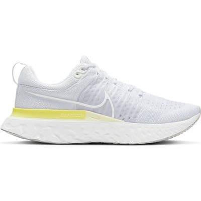 The Women's Nike React Infinity Flyknit 2 is designed to keep you running.  (Without injuries when using a variable training plan) Version 2 features a new upper that combines Flywire and Flyknit technology for support and breathability exactly where you need it.
