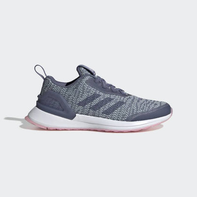 Running shoes designed just for girls. Built for laps around the track but stylish enough for school, these shoes have a knit upper that hugs the foot and classic laces to lock in the fit. Plush cushioning keeps her comfortable all day.
