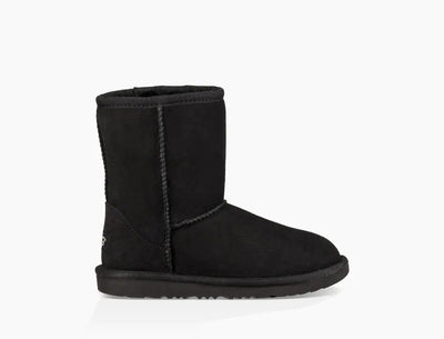Your little one's favorite Ugg Classic boot is the same as ever, with its soft sheepskin and barefoot feel, but now features a super-light, cushioned  Ugg outsole. Each boot is built to move the way kids do – running, jumping, and whatever else they get into – with a flexible rocker-bottom shape that's perfect for all-day play.