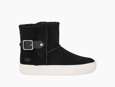 Soft suede and a little fuzz bring cozy warmth to this women's sneaker from Ugg. Wear the short Ugg Aika silhouette with denim or off-duty layers.