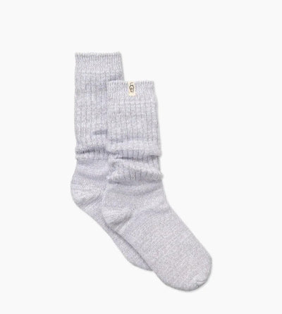 Just slouchy enough, these ultra-soft Ugg Rib Knit Slouchy Sock socks are our favorite. Wear around the house, or peeking out from an ankle boot.