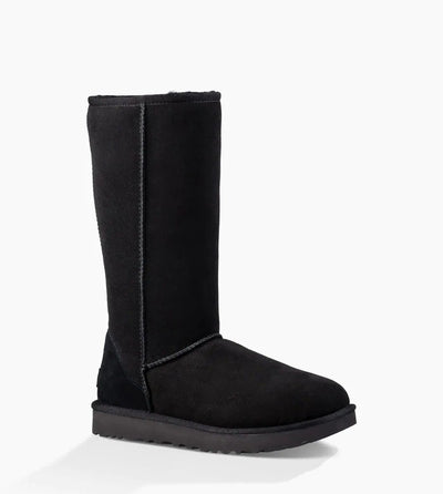 The Ugg Classic boot was originally worn by surfers to keep warm after early-morning sessions, and has since become iconic for its soft sheepskin and enduring design. Incorporating a durable, lightweight sole to increase cushioning and traction, these versatile boots pair well with practically anything – try loose boyfriend jeans and a velvet top.