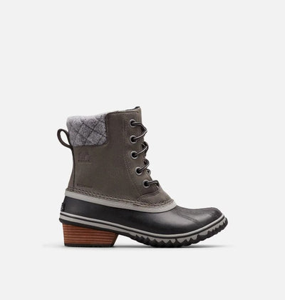 The latest edition of Sorel's legendary Slimpack, this boot has a premium wool felt collar, soft microfleece lining, and rain-defying DNA. The waterproof full-grain leather and seam-sealed construction help you take on the storms while the EVA footbed and 100g of insulation keep you warm and comfortable